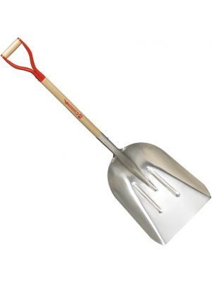 #12 Aluminum Scoop Shovel – Western Wood D Handle - 31 in